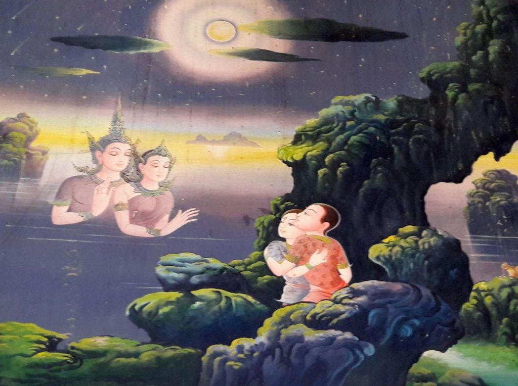 bild mit szenen aus buddhas leben