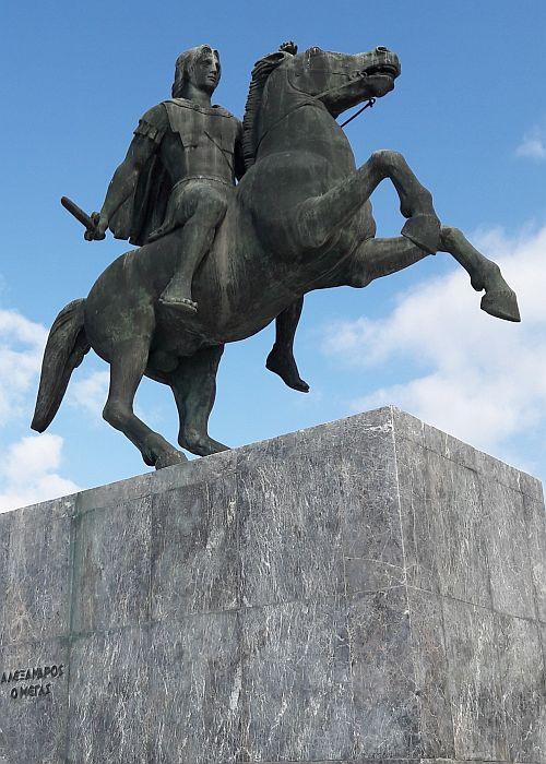 Alexander der Große zu Pferd
