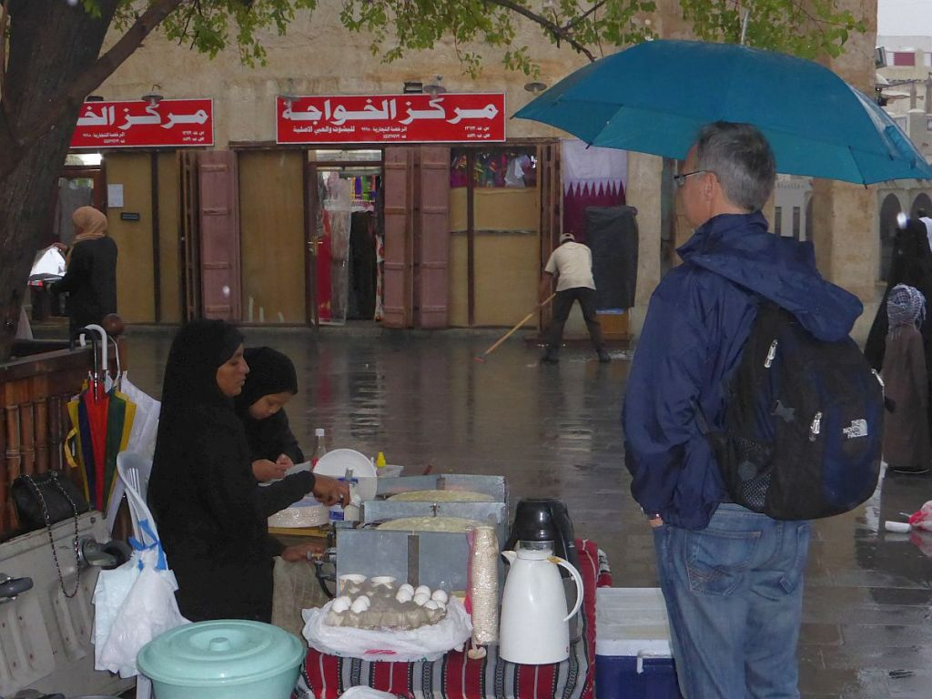 Crepebäckerin in Doha