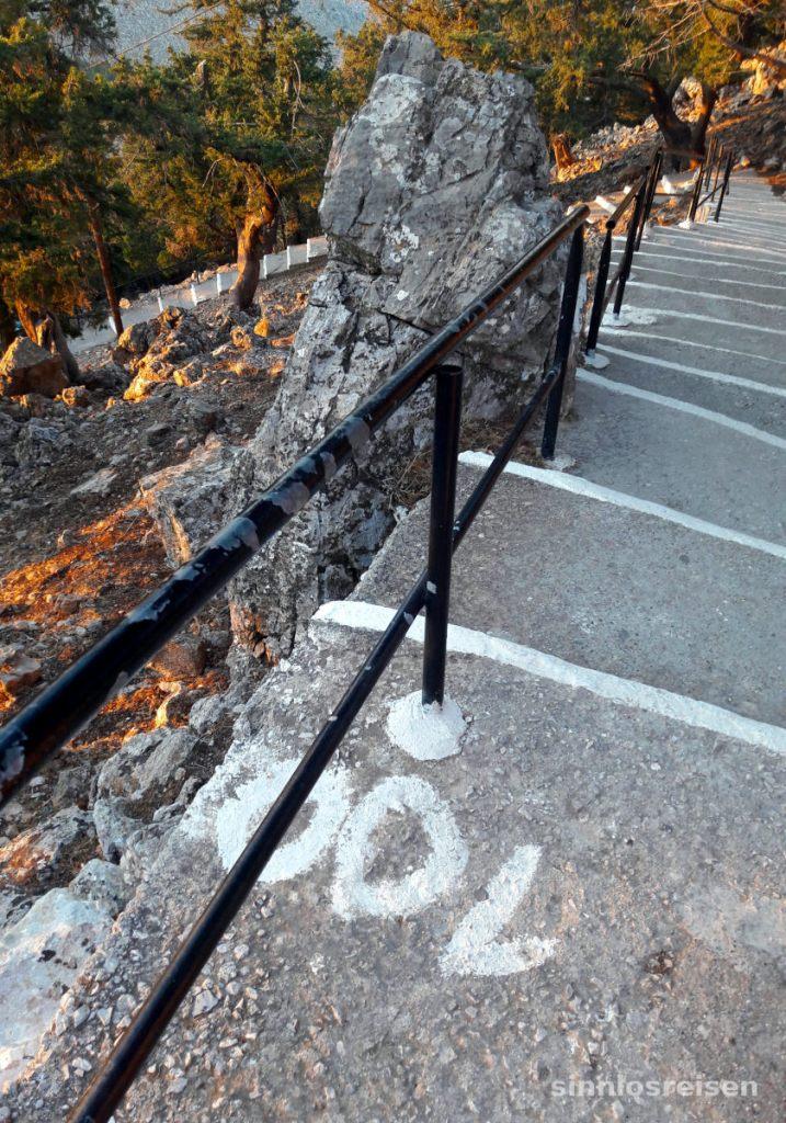 Treppe zur Tsambikakapelle