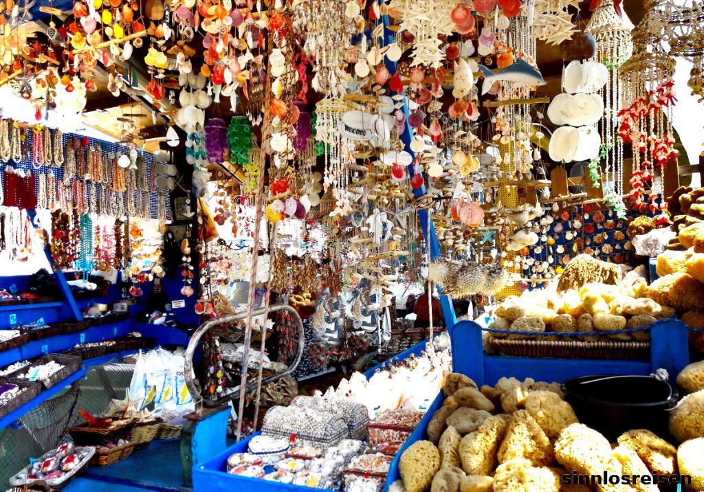 Ein Touristenshop in Rhodos