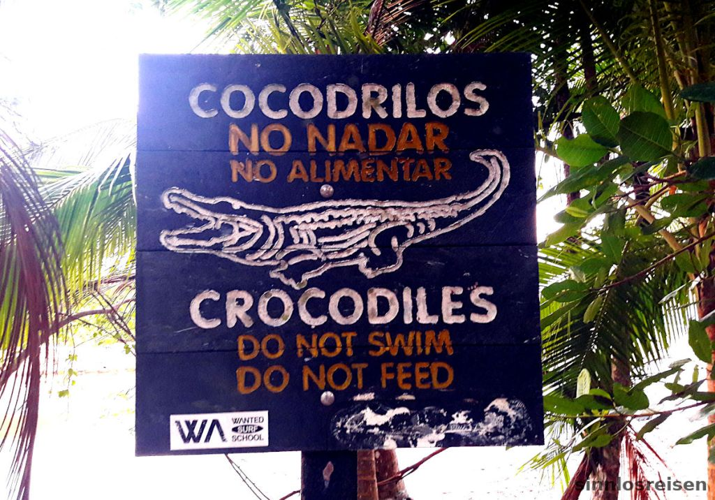 Beware Cocodrilos Warnschild