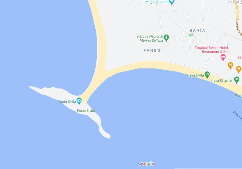 Karte des Marino Ballena NP
