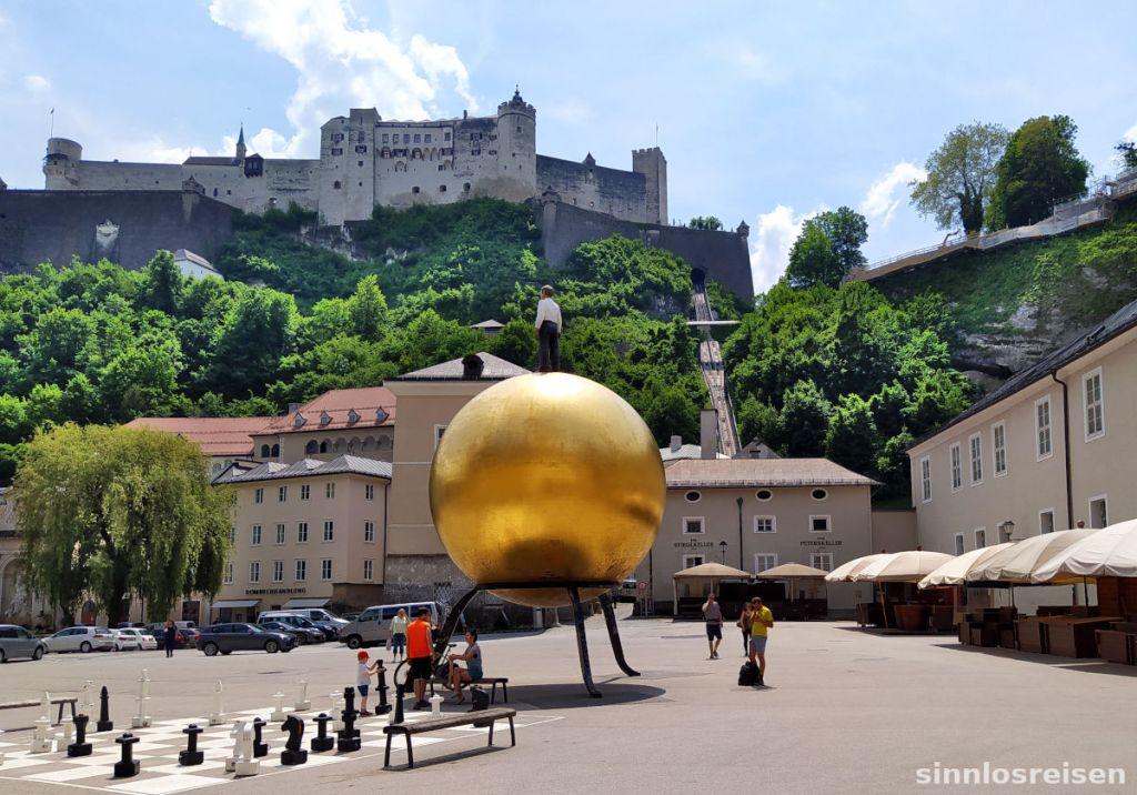 Festung Hohensalzburg und Goldkugel