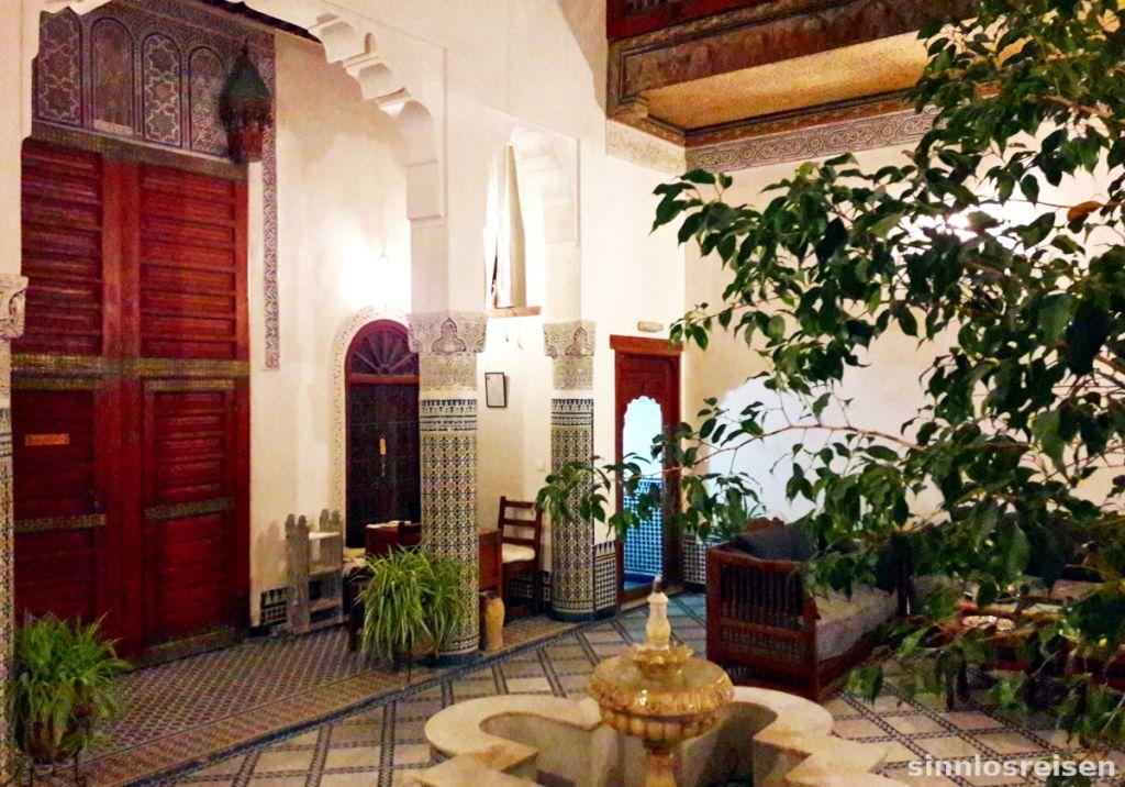 Schöner Innenhof eines Riad