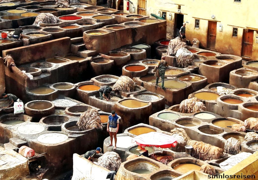 Färbebecken in der Tannerie