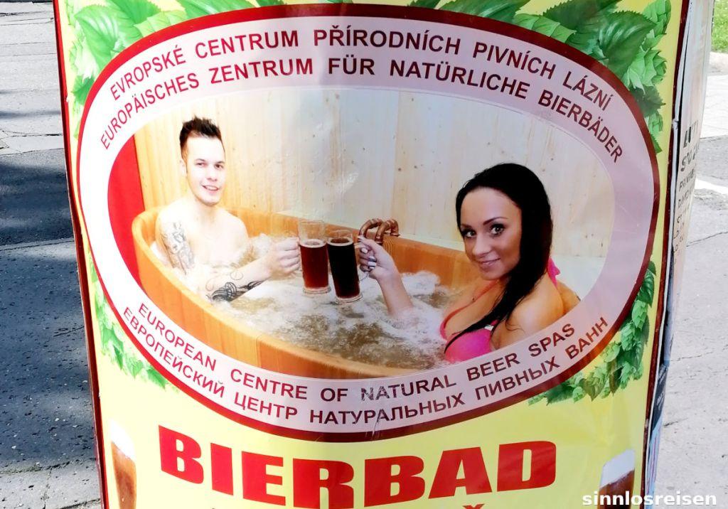 Reklame Bierbad